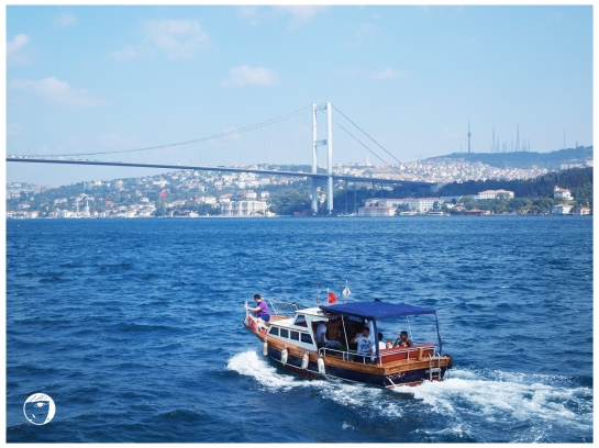 Bosphorus Bridge seen from our ferry